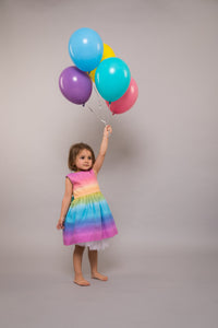 Unicorn Rainbow Girls Party Dress
