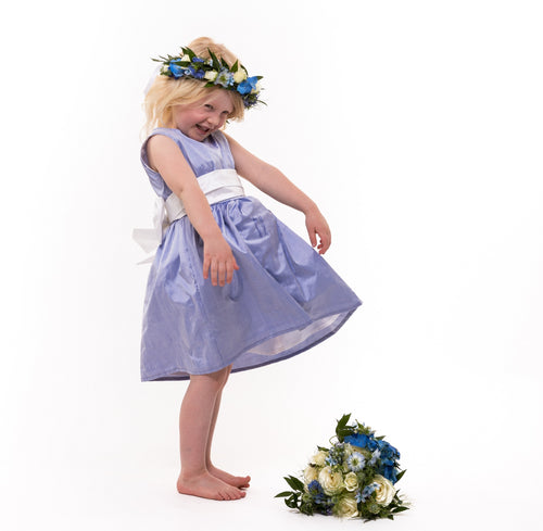 Silk Sash Flower Girl Dress -