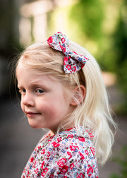 liberty print hair bow red