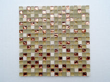 PGMS029 Mini Square Interlocking 11.75in. x 11.75in. x 8mm Glass and Marble Mesh-Mounted Mosaic Tile