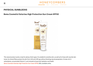 HoneyCombers: Bema Cosmetici Solartea High Protection Organic Sun Cream SPF 50