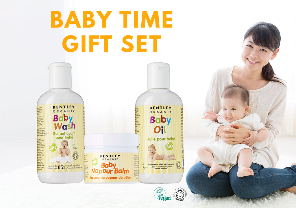Bentley Organic Baby Time Gift Set Baby Shampoo Body Wash Natural Vegan Organic Baby Products Eczema Sensitive Skin Singapore