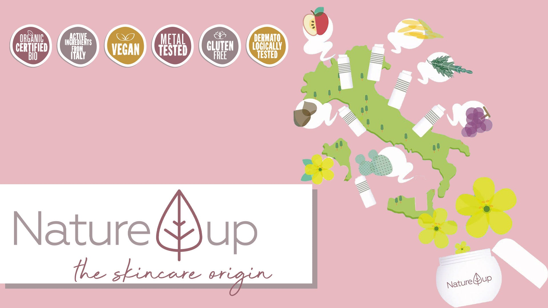 Nature Up Bema Certified Organic Sustainable Clean Beauty Green Eco Friendly Beauty Advanced Technology Gluten Free Dermatologically Tested Natural Skin Care Singapore