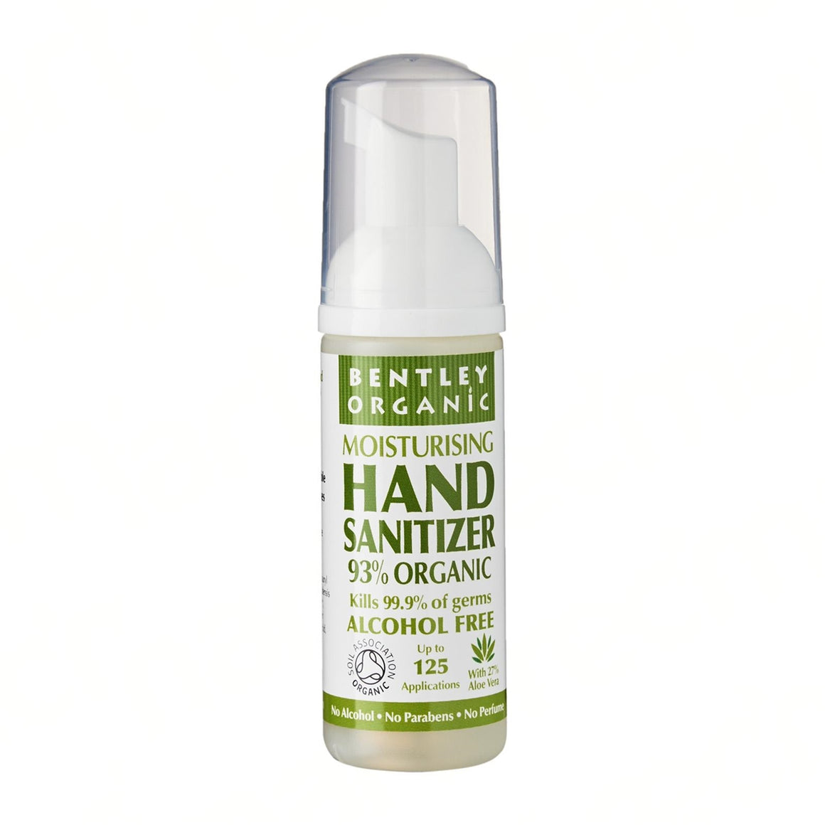Organic Hand Sanitizer Fragrance-Free. 99.9% effective against germs. - Aldha