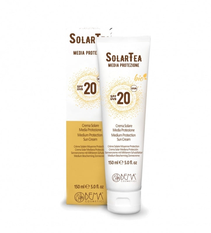 Medium Protection Organic Suncream SPF 20 - Aldha