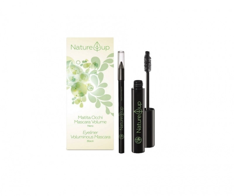 Voluminous Organic Black Mascara & Black Eyeliner - Aldha