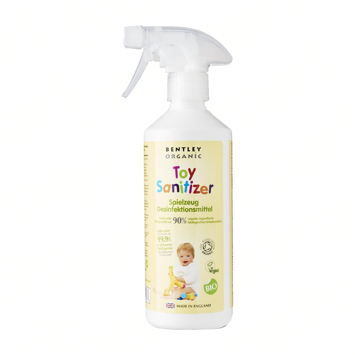 Organic Surface & Toy Sanitizer. Large/Mini (500/50 ml). 99.9% effective against germs. - Aldha