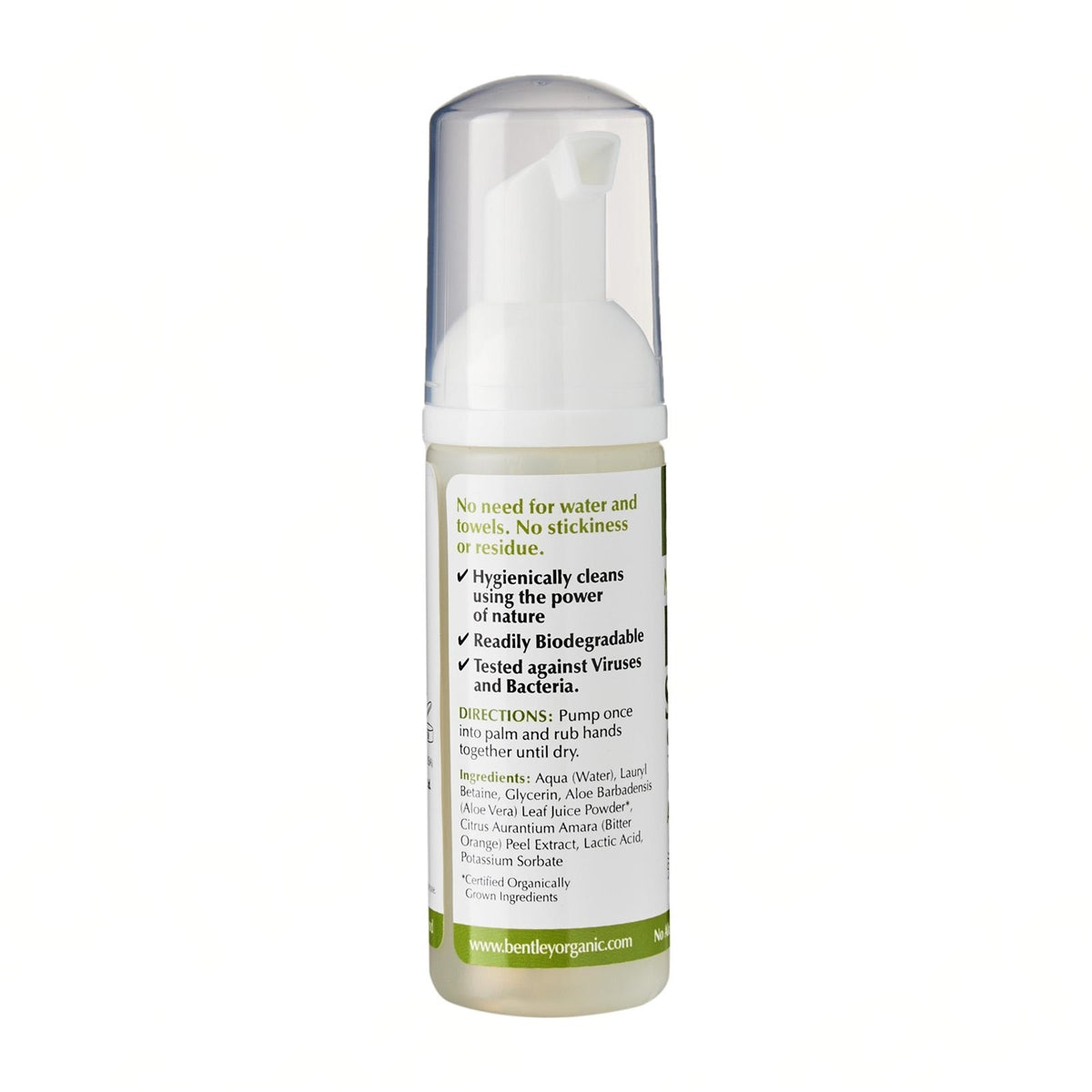 Organic Lemon Hand Sanitizer. 99.9% effective against germs - Aldha