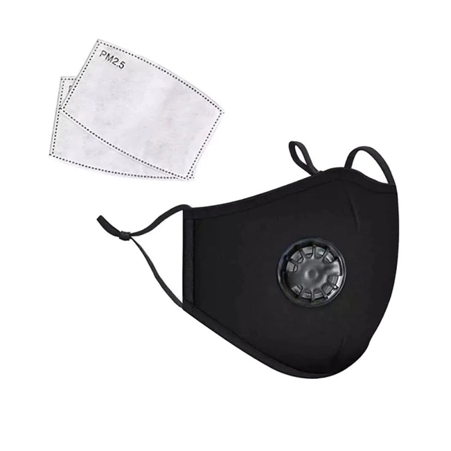 PM2.5 Anti-Pollution Face Mask Breathable Washable  with Activated Carbon Filter Respirator and Valve - Aldha