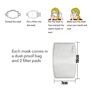 Replacement Filter for Childrens Face Mask Activated Carbon PM2.5 - Aldha