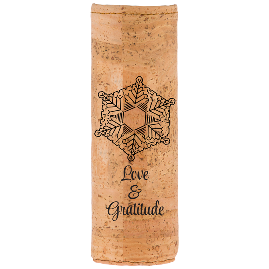 Spiritual Emoto Peace Project Cork Protective Bottle Sleeve - Aldha