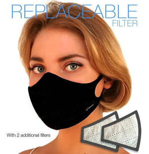 Linen Fashion N97 Air Pollution Face Mask with Replaceable Filter. 99.99% protection at PM2.5 Microns • Natural Linen outer with organic bamboo inner. - Aldha