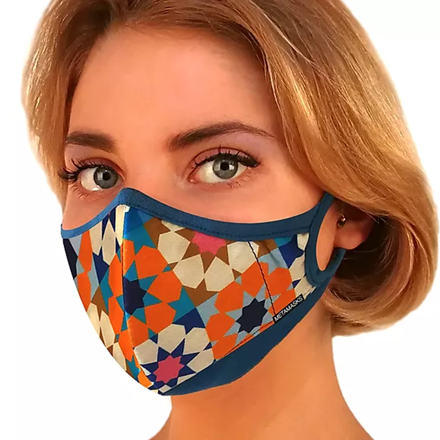 Silk Road Fashion N97 Face Mask with Embedded Filter. 99.99% protection at PM2.5 Microns • Silk outer with organic bamboo inner. - Aldha