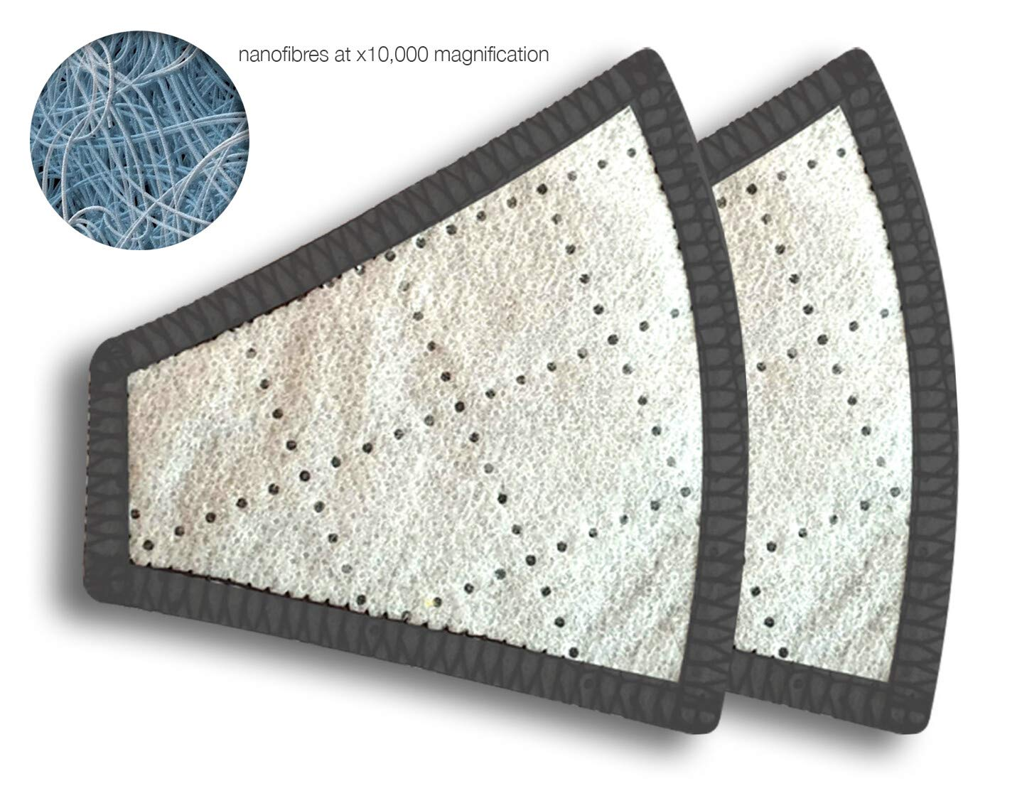 Activated Carbon N97 Nano-Filters - 99.99% protection at PM2.5 Microns - Aldha
