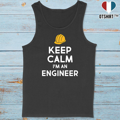 Débardeur homme keep calm engineer
