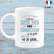 Mug super papa et conducteur