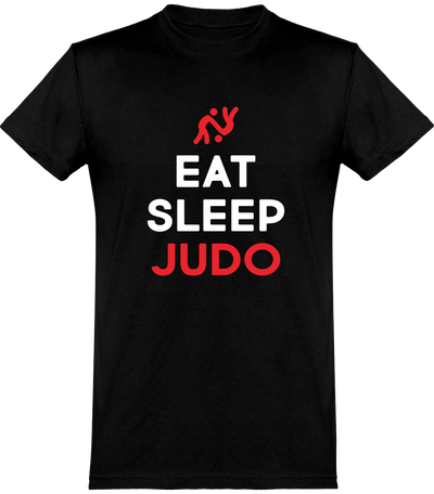 T shirt homme eat sleep judo