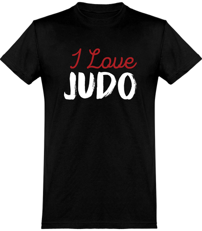 T shirt homme i love judo