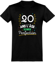 T shirt homme 20 ans la perfection