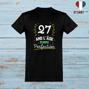 T shirt homme 27 ans la perfection