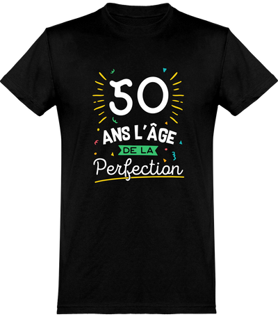 T shirt homme 50 ans la perfection