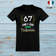 T shirt homme 67 ans la perfection