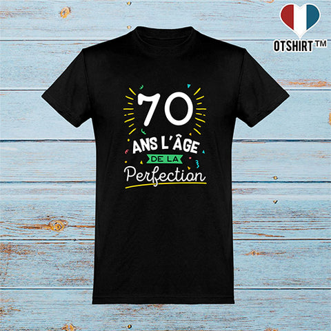 T shirt homme 70 ans la perfection