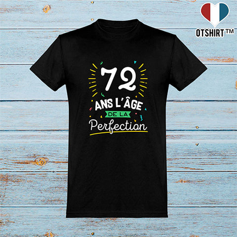 T shirt homme 72 ans la perfection