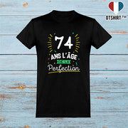 T shirt homme 74 ans la perfection