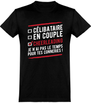 T shirt homme célibataire en couple cheerleading