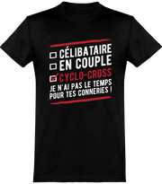 T shirt homme célibataire en couple cyclo-cross