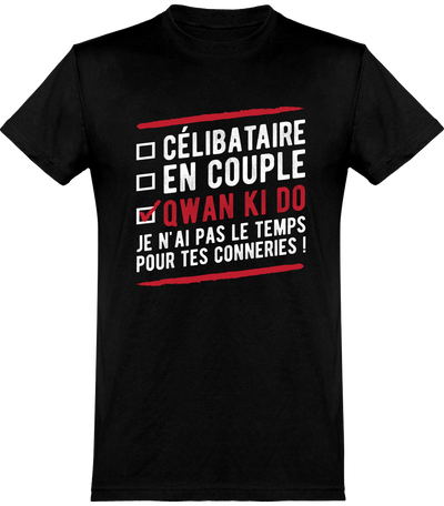 T shirt homme célibataire en couple qwan ki do