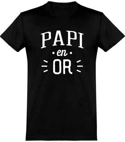 T shirt homme papi en or