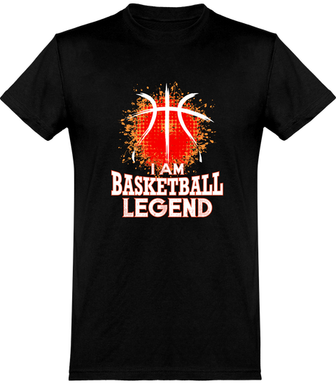 T shirt homme i am basketball legend