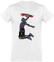 T shirt homme basketball dunk action