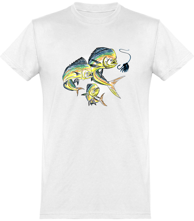 T shirt homme awesome fish