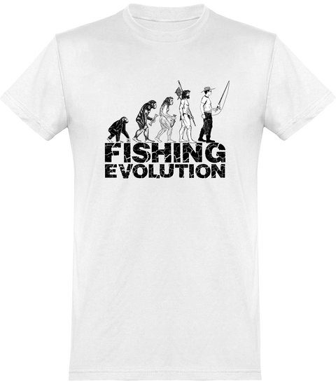 T shirt homme fishing evolution