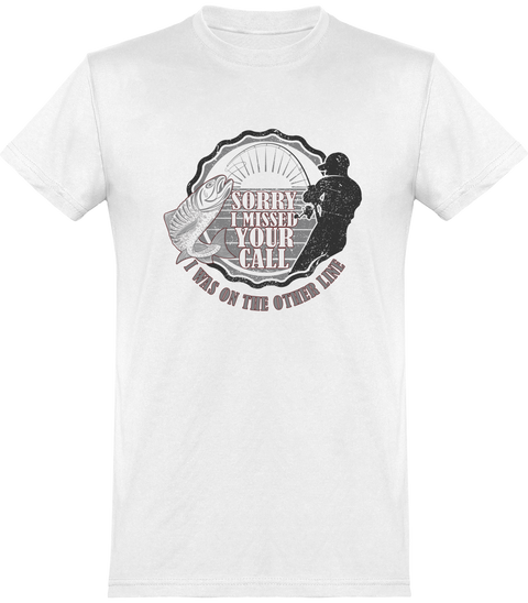 On the other line t-shirt humour pêcheur cadeau, tee shirt 100% coton.