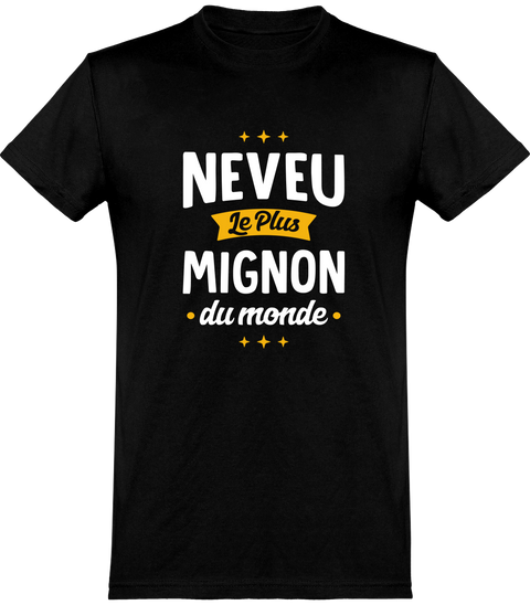 T shirt homme neveu le plus mignon