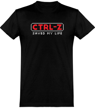 T shirt homme ctrl-z saved my life