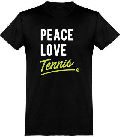 T shirt homme peace, love, tennis