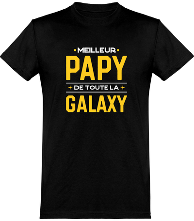 T shirt homme meilleur papy galaxy