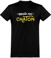 T shirt homme appelle moi chaton