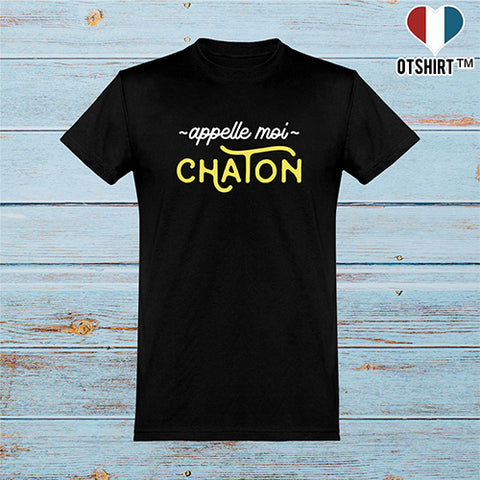 T shirt homme appelle moi chaton 2