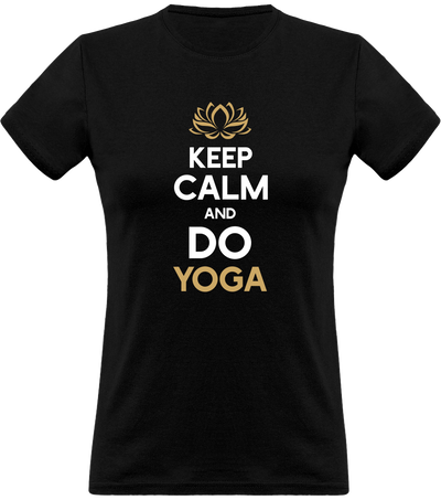 T shirt femme keep calm and do yoga