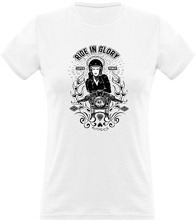 T shirt femme vintage ride in glory
