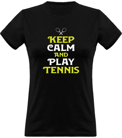 T shirt femme keep calm and play