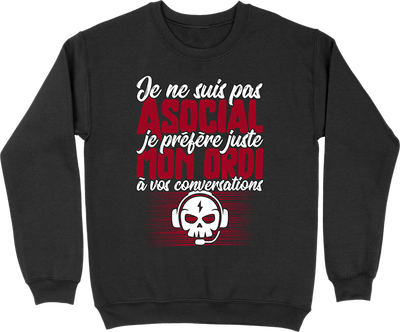 Pull homme pas asocial ordi