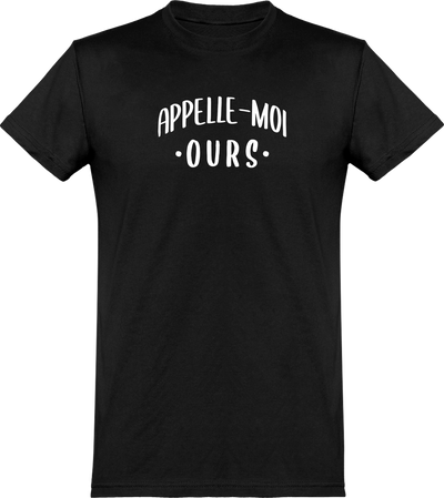 T shirt homme appelle moi ours