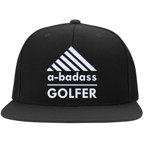A-Badass Golfer Flat Bill High-Profile Snapback Hat